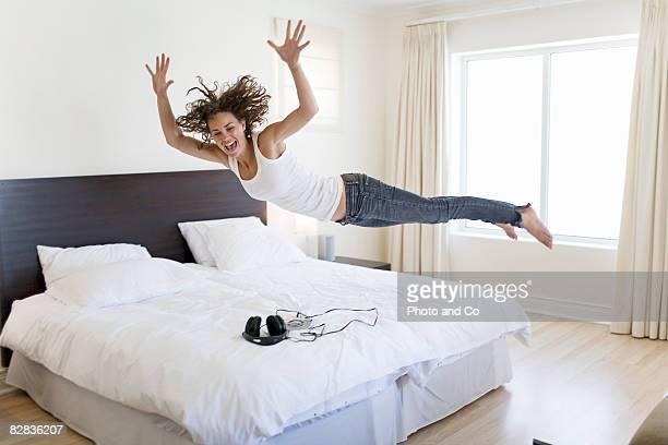 woman in her bedroom