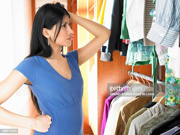 Woman in her dressing room