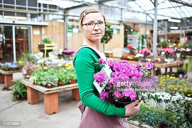 Woman in her flowershop