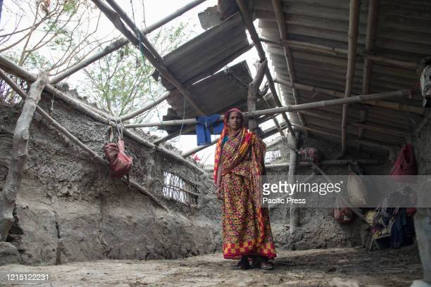A woman in her house which has been destroyed in the super cyclone Amphan People who were almost jobless during the time of lockdown due to the...