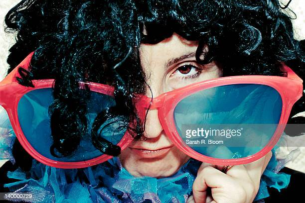 Woman in huge sunglasses