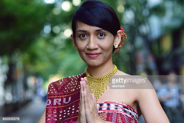 Woman in Indonesian dress