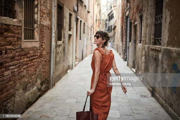 woman in italy - holiday stock pictures, royalty-free photos & images