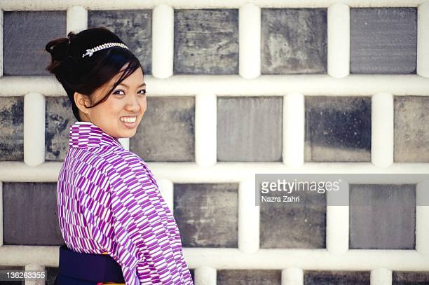 woman in Japanese traditional costume
