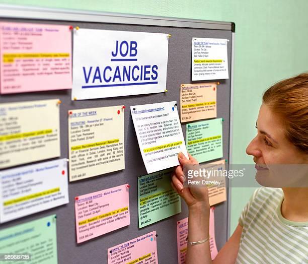 Woman in job centre