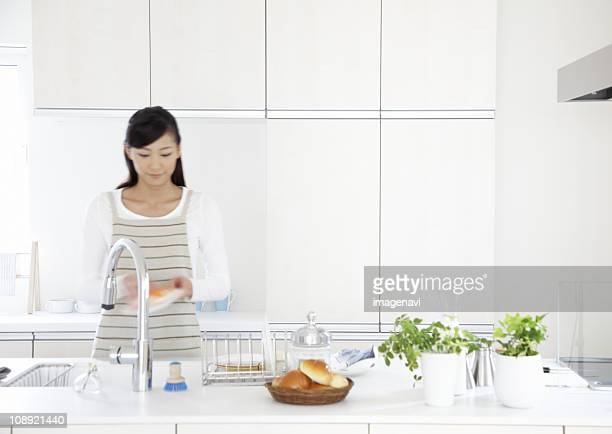 Woman in kitchen