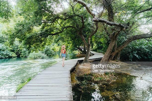 Woman in Krka National Park