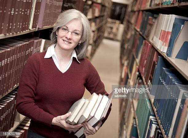 Woman in Library Series