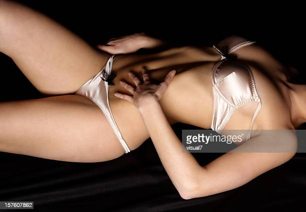 woman in lingerie - beautiful woman chest stock photos and pictures