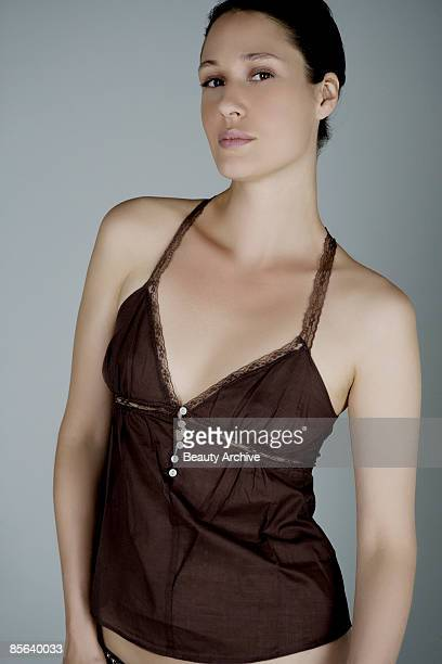 woman in lingerie - camisole stock photos and pictures