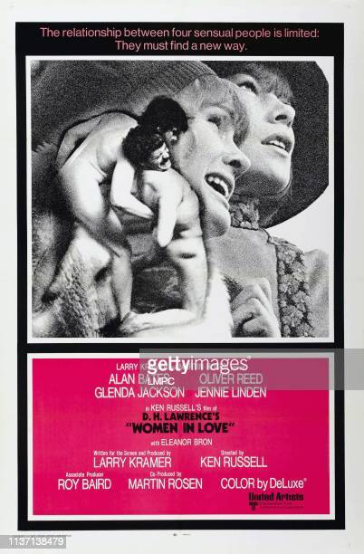 Woman In Love poster US poster from left Alan Bates Oliver Reed Jennie Linden Glenda Jackson 1969