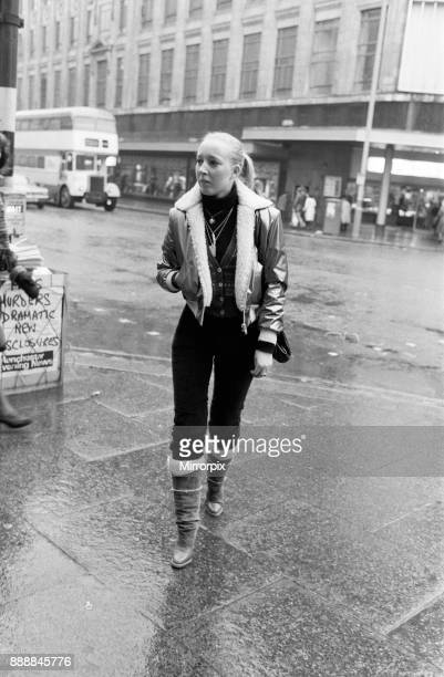 Woman in Manchester photographed for a Daily Mirror 'Fashion Spy' article 20th January 1978