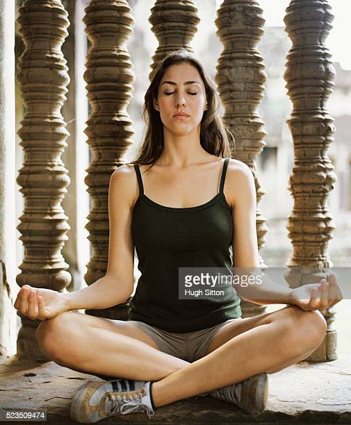 woman in meditation - hugh sitton stock pictures, royalty-free photos & images