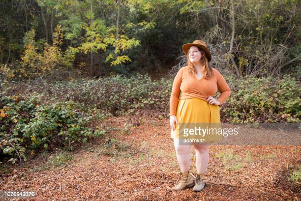 Woman in nature camping