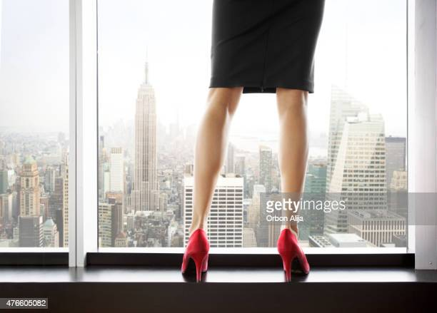woman in new york - beautiful legs in high heels stock photos and pictures