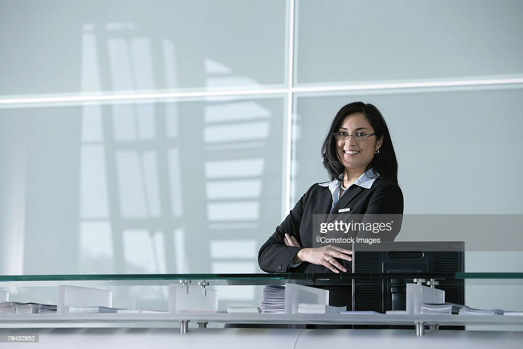 Woman in office : Stockfoto