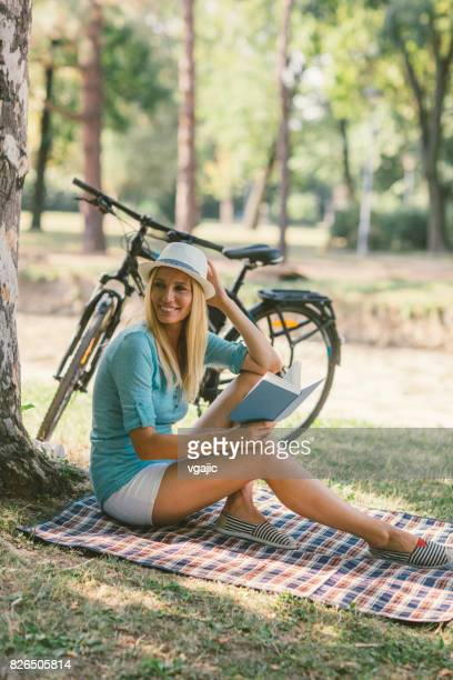 woman in park - only mid adult women stock pictures, royalty-free photos & images