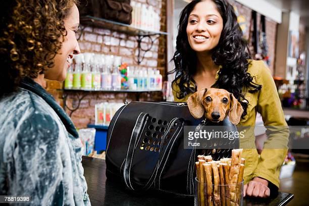 Woman in Pet Shop