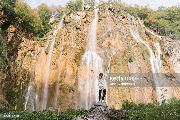 Woman in Plitvice National Park