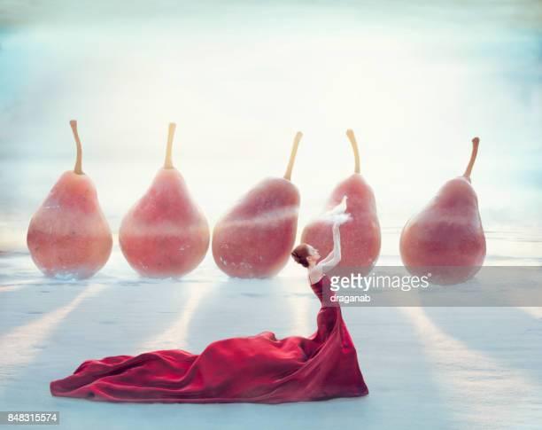 Femme en rouge
