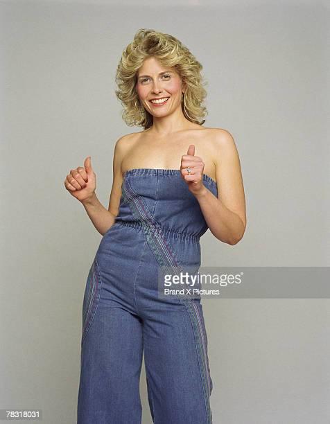 Woman in retro costume