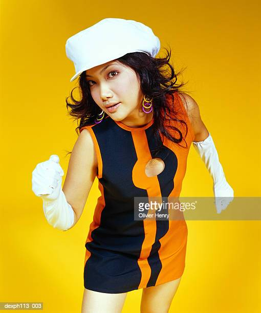 woman in retro dress dancing - evening glove stock pictures, royalty-free photos & images
