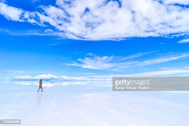 Woman In Salt Flat
