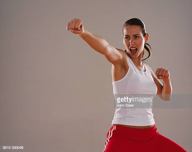 Woman in Self Defense Position