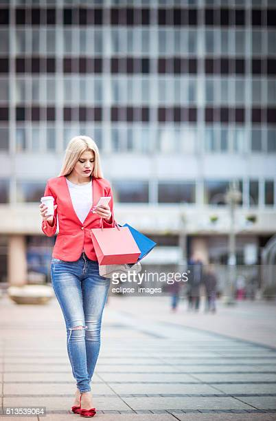 Woman in shopping