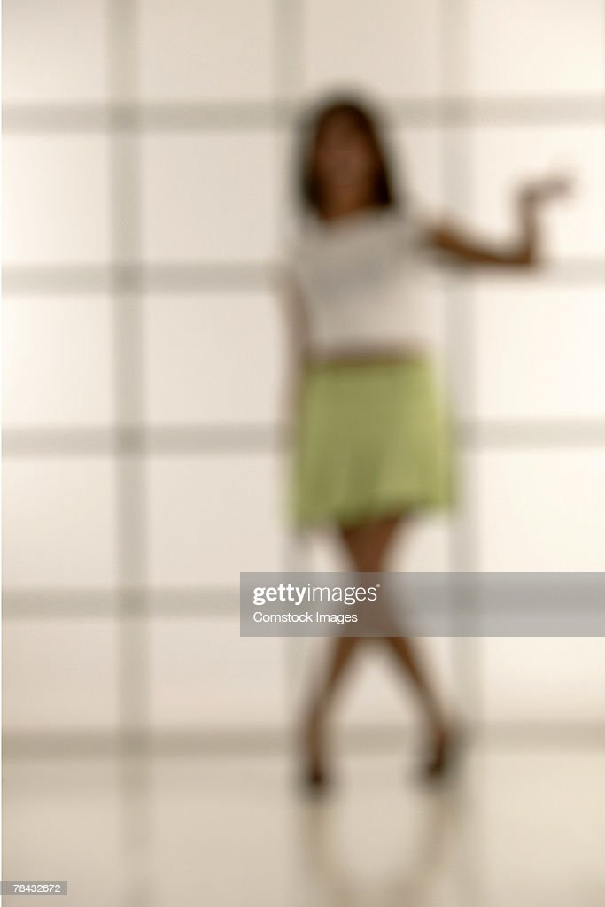 Woman in skirt blurred : Stock Photo
