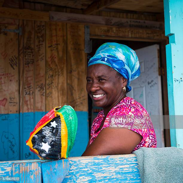 woman in st. kitts - st. kitts stock photos and pictures