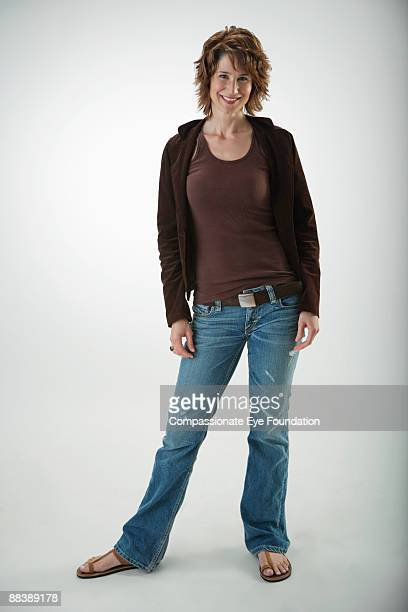woman in sweater and jeans