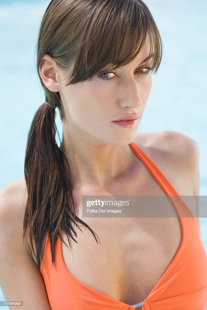Woman in swimwear : Stock Photo
