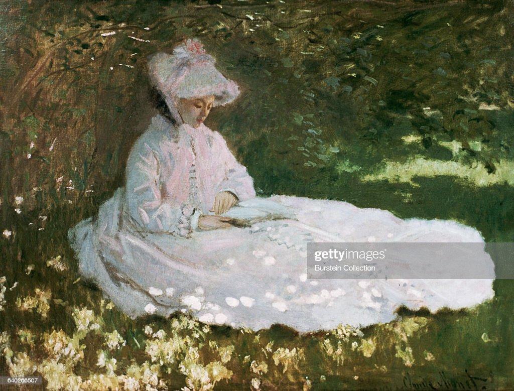 Woman In The Garden, Springtime By Claude Monet