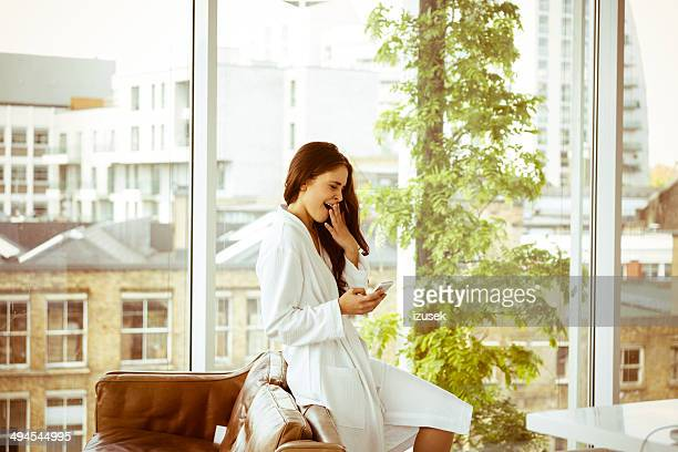 woman in the morning - women of penthouse stock photos and pictures