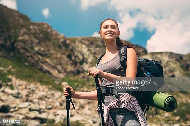 Woman in the mountain