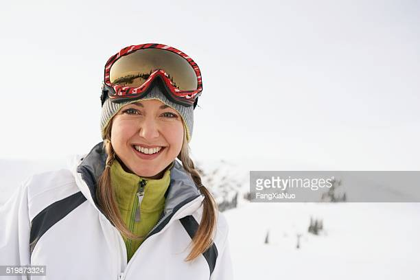 woman in the mountains - female skier stock pictures, royalty-free photos & images