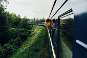 Woman in the  train