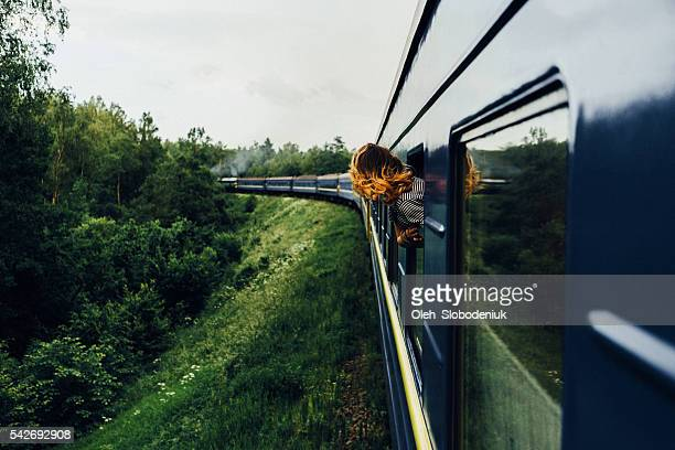 woman in the  train - ukraine landscape stock pictures, royalty-free photos & images