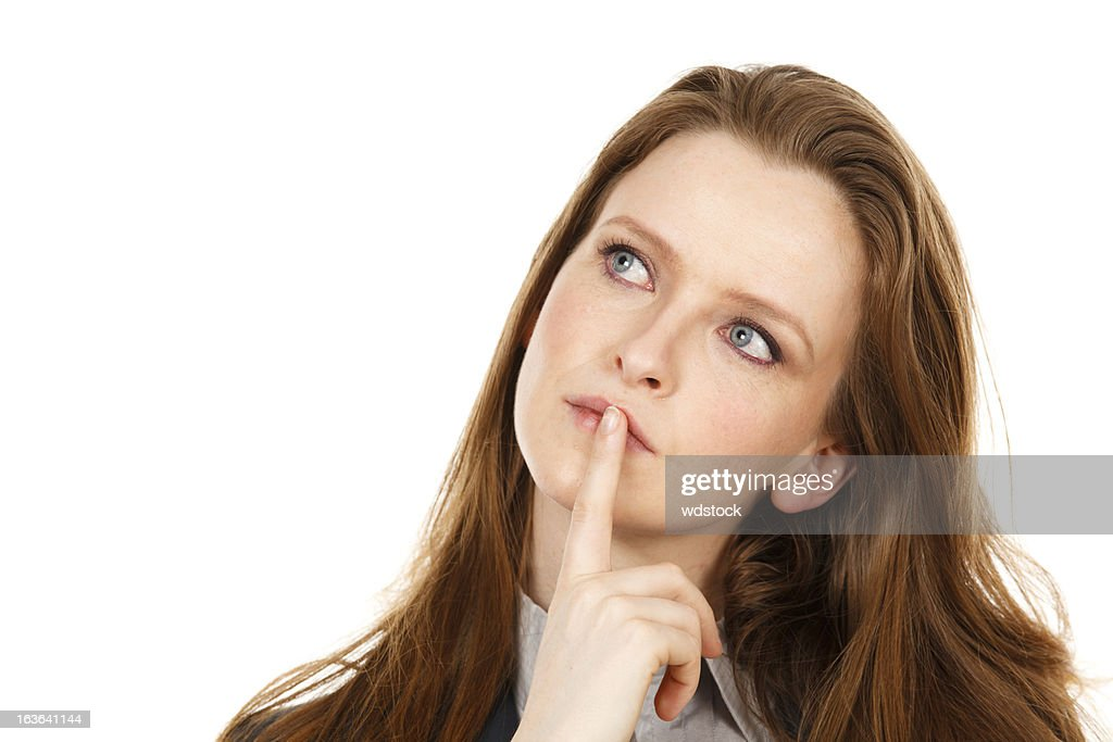 Woman in Thought : Stock Photo