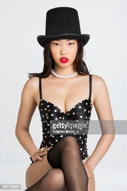 woman in top hat - seduction stock pictures, royalty-free photos & images