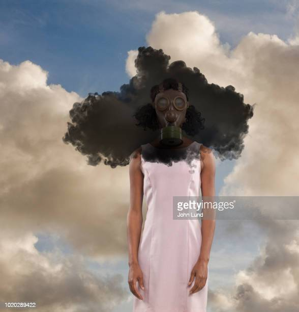 Woman In Toxic Black Cloud