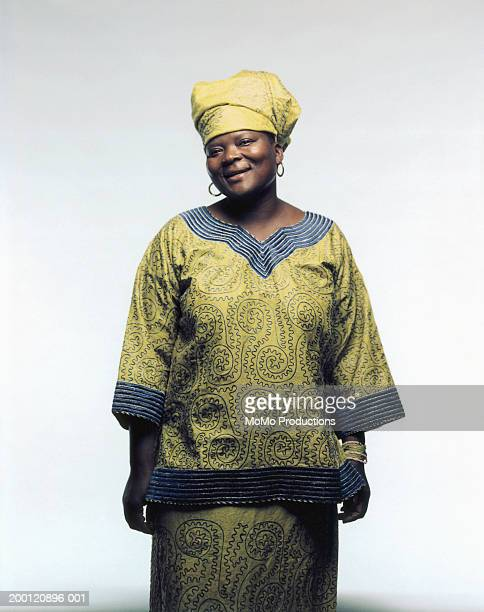 woman in traditional african dress, portrait - tradition stock pictures, royalty-free photos & images