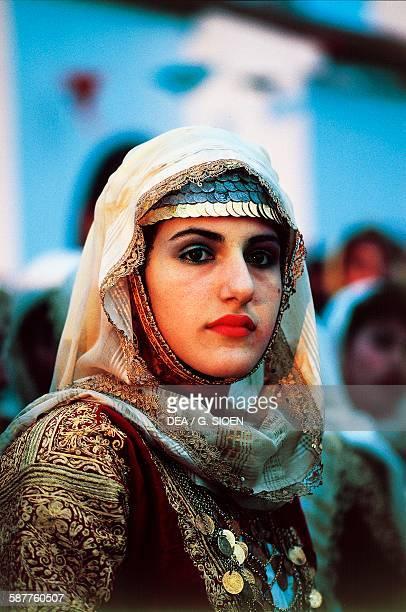 A woman in traditional costume Megara Attica Greece