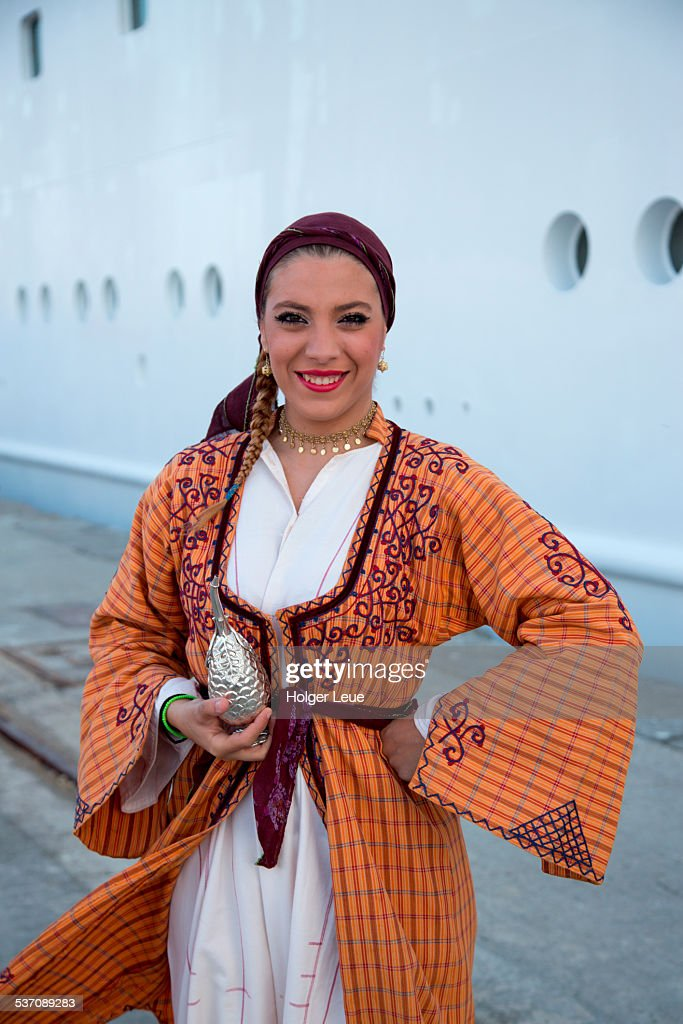 Woman In Traditional Costume Near Cruise Ship Stock Photo Getty - Cruise ship costume