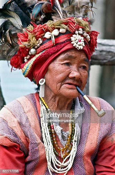 Woman in tribal dress in Ifugao Province