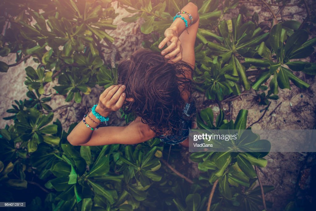 woman in tropical : Foto stock