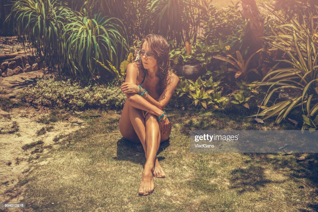 woman in tropical : Stock Photo