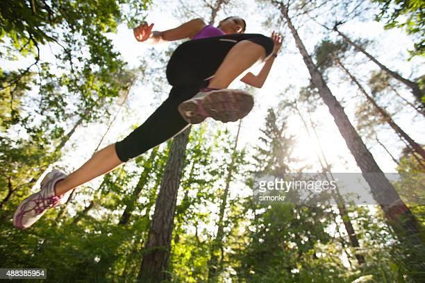 Mulher na corrida Ultramaratona