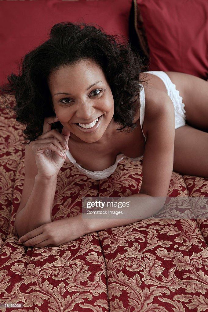 Woman in underwear : Stockfoto